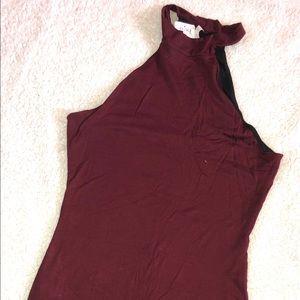 Agaci burgundy dress